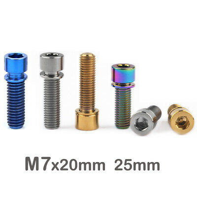 Titanium M7x20 25mm Bikes Socket Cap Head Bolts Screws With Washers  • 6.86£