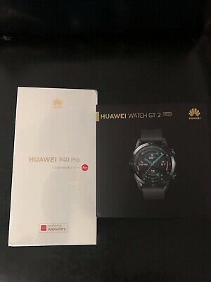 Huawei P40 Pro 5G - 256GB - Silver Frost With Huawei Watch Black 46mm Bundle • 699£
