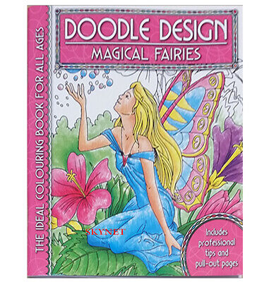 MAGICAL FAIRIES Colouring Book - Doodle Design - Art Colour Therapy Relaxing • 3.39£
