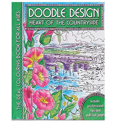 HEART OF COUNTRYSIDE Colouring Book - Doodle Design  Art Colour Therapy Relaxing • 3.39£