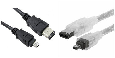 £1.99 • Buy Firewire IEEE-1394 DV Cable 4 To 6 Pin - DV Out To PC Laptop I-Link Camcorder