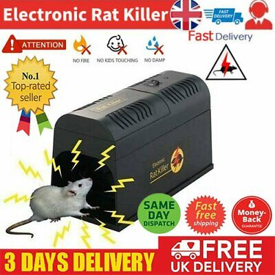 7000V Electronic High Voltage Rat Trap Electric Shock Mice Mouse Rodent Killer • 22.94£