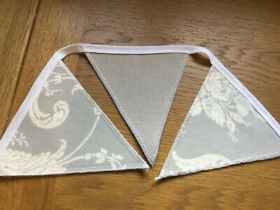 Laura Ashley Josette Steel/austen Grey Handmade Bunting 10 Double Sided Flags • 19.95£