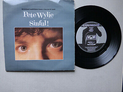 Pete Wylie 7  Vinyl Gatefold Ps  Sinful! Limited Edition Two Record Set • 4.99£