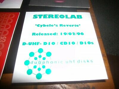 STEREOLAB - CYBELE'S REVERIE        4-Track Promo CD Single • 3£
