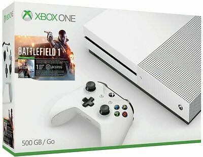 $349.99 • Buy Microsoft Xbox One S Battlefield 1 Bundle 500 GB White Console (2-Day Shipping)