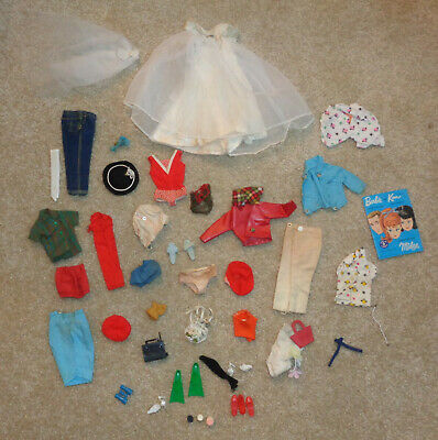 $ CDN19.62 • Buy Vintage Lot Of Barbie Doll Clothes & Accessories Shoes 1960's