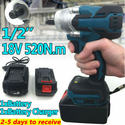 18V 1/2  520Nm Brushless Impact Wrench Replacement For Makita DTW285Z + Battery • 26.99£