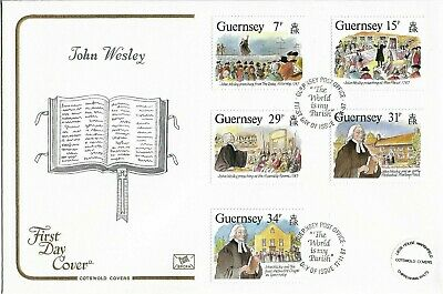 Guernsey 1987 Cotswold  John Wesley FDC • 0.25£