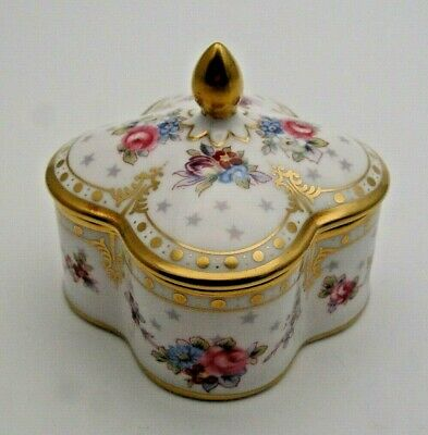 FIRST QUALITY ROYAL CROWN DERBY ROYAL ANTOINETTE LIDDED BOX C.1994 - PERFECT • 44£