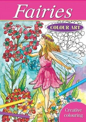 Brilliant Quality A4 Fairies Colour Art Therapy Colouring Book Relax • 4.29£