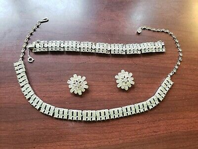 $15.99 • Buy Vintage Beautiful Sarah Coventry Jewelry Set Earrings, Bracelet And Necklace