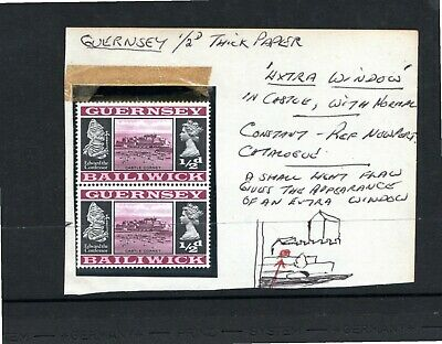 Guernsey - Hinged Mint - 1/2d Magenta And Black - ERROR - Extra Window • 0.99£
