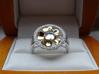 £12.99 • Buy 925 Sterling Silver Womens Cz Spinning Flower Ring New