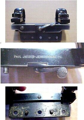 $36.79 • Buy Vintage Paul Jaeger SCOPE MOUNT With Flat Base And 1  Incch RINGS