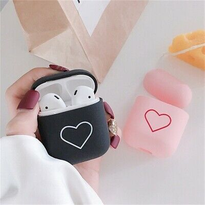 $ CDN8.30 • Buy Accessories Couples For Apple Airpods Protective Cover Hard PC Case Love Heart