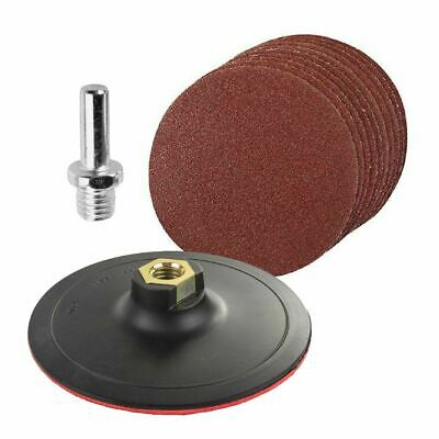 £5.99 • Buy 12x Mixed Grit Hook & Loop 125mm Sanding Discs With Backing Pad & Drill Adaptor