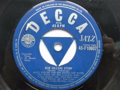 Alex Welsh New Orleans Stomp 7  Decca F10607 VG 1950s New Orleans Stomp/As Long  • 10.50£