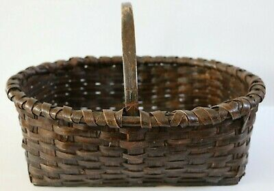 $ CDN27.05 • Buy Large Vintage Splint Basket Old Finish