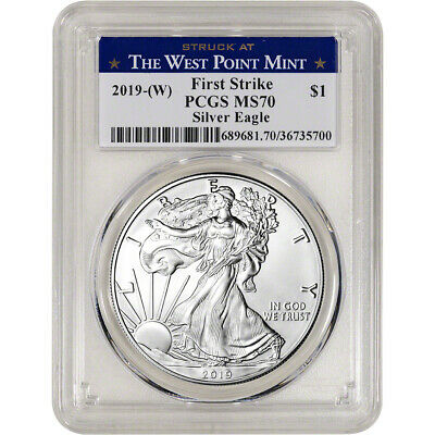 $33.89 • Buy 2019-(W) American Silver Eagle - PCGS MS70 - First Strike West Point Label