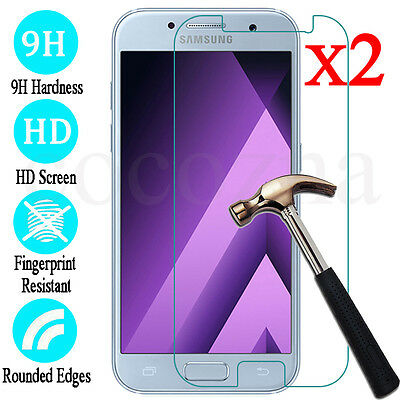 AU3.29 • Buy 2XTempered Glass Screen Protector For Samsung Galaxy A3 A5 A7 A8 J1 J5 J7 S6 S7