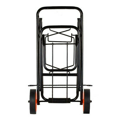 Luggage Carrier Cart Shopping Travel Camping Festival Trolley Black Orange Wheel • 14.49£