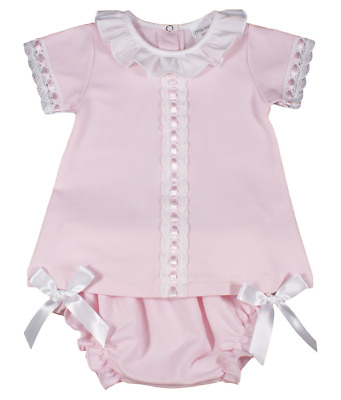£15.99 • Buy Baby Girl Dress Jam Pants Spanish Style BOWS Cotton Lace