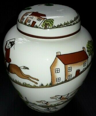 Crown Staffordshire  Hunting Scene Ginger Jar  Wedgwood Coalport • 18£
