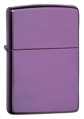 $15.50 • Buy Zippo 24747,  High Polish Purple  Finish Lighter, Full Size, ***Flints & Wick***