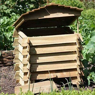 Large 330L Wooden Composter Beehive Style Recycling Garden Waste Bin Box Soil  • 64.90£