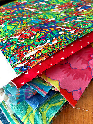 £12.75 • Buy SCRAP BAGS! Quilting & Craft 100% Cotton Fabric Off Cuts & Bolt Ends
