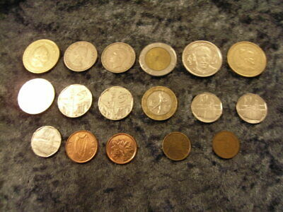 FOREIGN COIN COLLECTION ** 17 Coins ** ALL SHOWN FRONT AND REAR • 4£