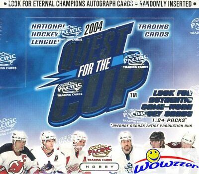 $31.95 • Buy 2003/04 Pacific Quest For The Cup Hockey Factory Sealed HOBBY Box-3 RC+1 JERSEY