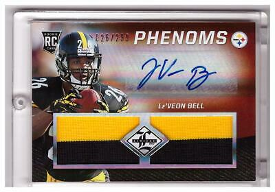 $12.99 • Buy 2013 Limited Le'Veon Bell Rookie Auto Autograph JUMBO PATCH Jersey 26/299 1/1 !!