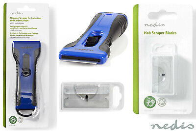 Nedis Glass Ceramic Hob / Window Scraper Cleaner With 4 X Spare Blades  • 4.75£