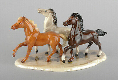 Hagen-Renaker Miniature Porcelain Specialty Wild Horses On Base #03357 • 49.99£