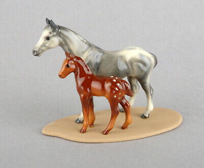 Hagen-Renaker Miniature Porcelain Appaloosa & Colt On Base #02010 • 19.99£