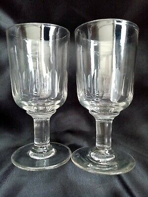 Pair Of Victorian Rummer Glasses. Fabulous Condition • 20£