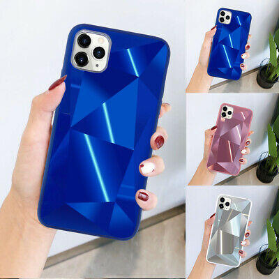 Diamond 3D Bling Mirror Case For IPhone 11 Pro 7 8 XR XS SE Phone Silicone Cover • 3.95£