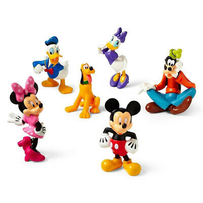 Mickey Mouse 6Pcs/Set Kid Toys Clubhouse Collection Figures Playsets Cake Topper • 9.59£
