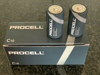 2 X Duracell C Size Procell Alkaline Batteries Lr14 Mn1400 Replaces Industrial  • 3.22£