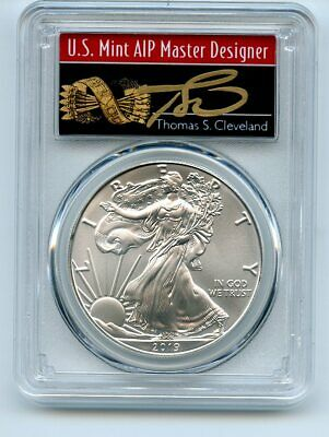 $20.50 • Buy 2019 $1 American Silver Eagle 1oz PCGS MS70 FS 1 Of 1000 Thomas Cleveland Arrows