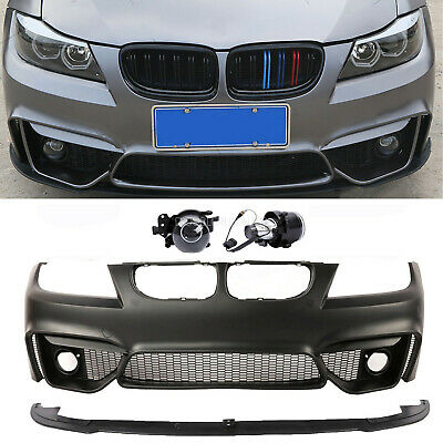 $480.80 • Buy F80 M4 Style Look Front Bumper  For BMW 3 Series E90 4DR 08-11 W/O PDC Holes