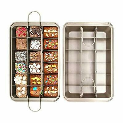 £21.99 • Buy Brownie Tin Brownie Tray With Dividers Chocolate Cake Tin Non-Stick Professional