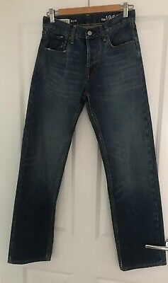 Gap Mens Ringspun Denim Blue Straight Leg Jeans 28 X 32 Vgc • 12.99£