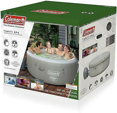 "$599.99 • Buy Coleman Saluspa 71"" X 26"" Tahiti Airjet Inflatable Hot Tub Spa 4-Person Jacuzzi"