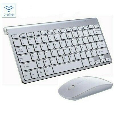 2.4G Waterproof Mini Wireless Keyboard And Mouse Set For Apple Mac PC Computer W • 15.59£