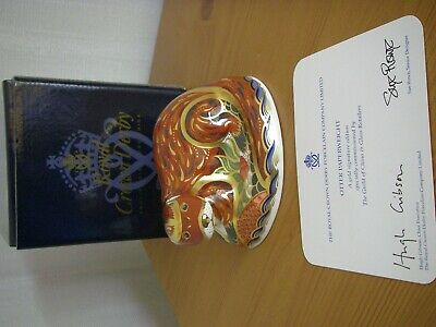 Royal Crown Derby - Otter Paperweight - 2001. • 11.01£