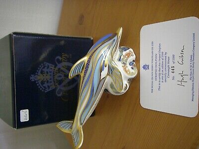 Royal Crown Derby - Striped Dolphin Paperweight - 1999. • 25£