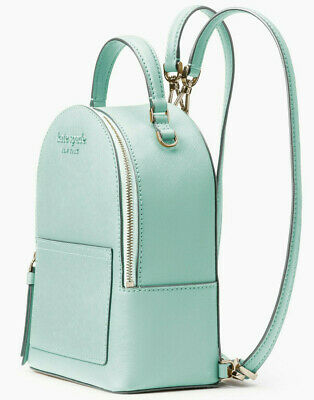 $ CDN178.61 • Buy Kate Spade Cameron Convertible Backpack Aquamarine Leather NWT WKRU6432 $279 FS